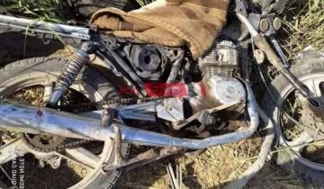 بالصور اصابة 4 أشخاص جراء حادث تصادم بين سيارة ودراجة بخارية بدمياط