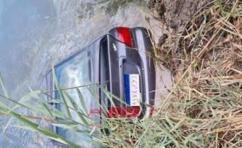 بالصور وفاة استاذ جامعي سقطت سيارتة في مياه ترعة على طريق دمياط – شربين