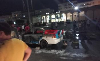 السيطرة على حريق نشب في تاكسي بدمياط الجديدة دون خسائر بشرية