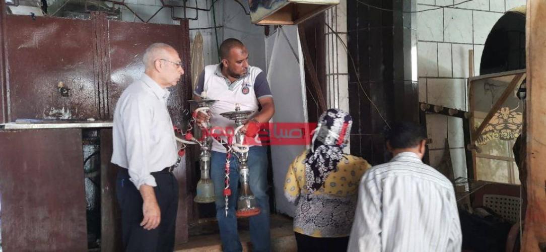 حملات مكبرة علي المحلات المخالفة لإجراءات كورونا بأحياء الإسكندرية