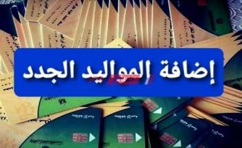 خطوات اضافة المواليد على بطاقة التموين ورابط التحديث