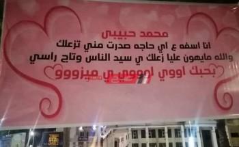 """تعمير دمياط الجديدة يزيل لافتة """"أنا آسفه يا محمد"""""""