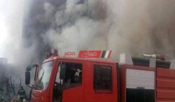 تفاصيل اشتعال النيران في مخزن مصنع بلاستيك بمحافظة الإسكندرية