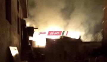 بالفيديو النيران تلتهم ورشة موبليات في قرية السنانية بدمياط دون اصابات
