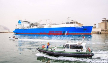 ميناء دمياط يعلن تصدير 62 الف طن من الغاز المسال الى الهند عبر الناقلة VELIKIY NOVGOROD