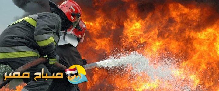 اندلاع حريق هائل في سيارة يسفر عن تفحم 15 طن كتان في محافظة البحيرة