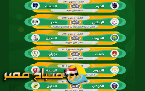 مباريات الجولة الرابعة من دوري الامير فيصل بن فهد الدرجة الاولي