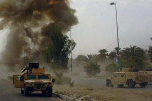 قوات الامن فى شمال سيناء تدمر سيارة مفخخة