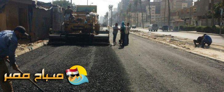 حملات إزالة تراكمات وسفلته بعدد من الشوارع بالاسكندرية