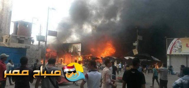 رئيس مدينة بنها: المعرض السورى المحترق مخالف وصادر له قرار إزالة