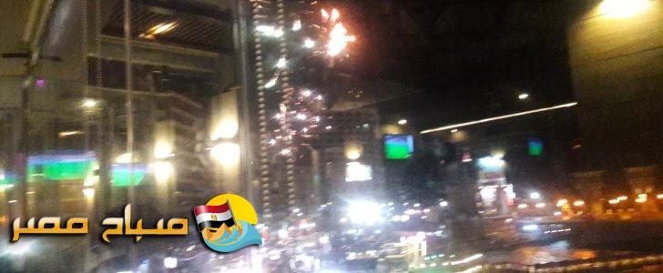 فرحة الاسكندرانية بفوز المنتخب المصري باطلاق الصواريخ بطريق الكورنيش