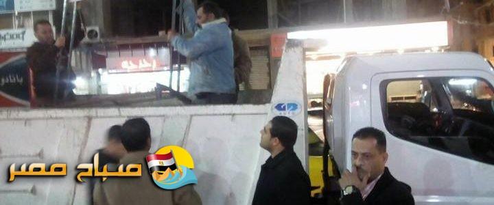 حملات ازالة اشغالات مكبرة بحي المنتزة فى الاسكندرية