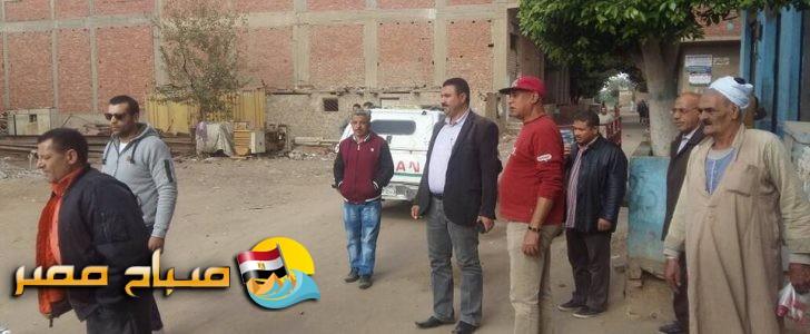 حملة ازالاات بعرب العيايدة بعدد 10حالات تعدي علي الاراضي الزراعية