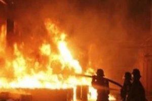 نشوب حريق في عقار تحت الإنشاء بالغربية