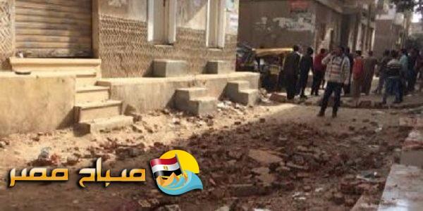 سقوط حائط منزل يتسبب فى مصرع صيدلى واصابة طفل فى الشرقية