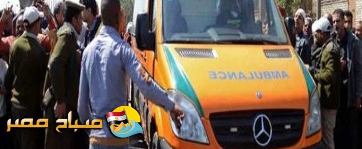 إصابة 21 مواطن فى حادث تصادم سيارتين بالمنيا