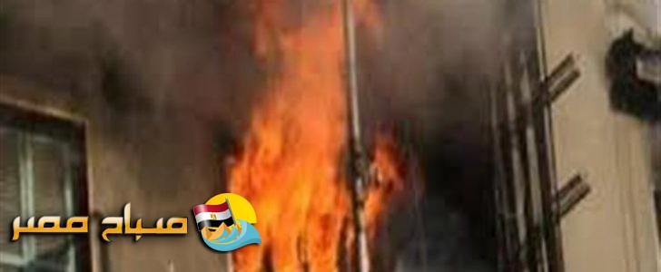 الامن يضبط من اشعل الحريق فى مكتب تأمينات قليوب
