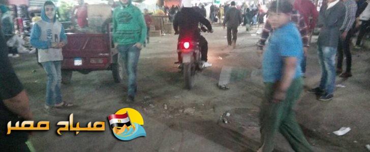 بالصور حملة مسائية لإزالة الإشغالات من شارعي 23 يوليو و15مايو بحي شرق شبرا الخيمة