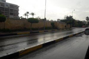 استمرار سقوط الأمطار على عدة مناطق بالإسكندرية