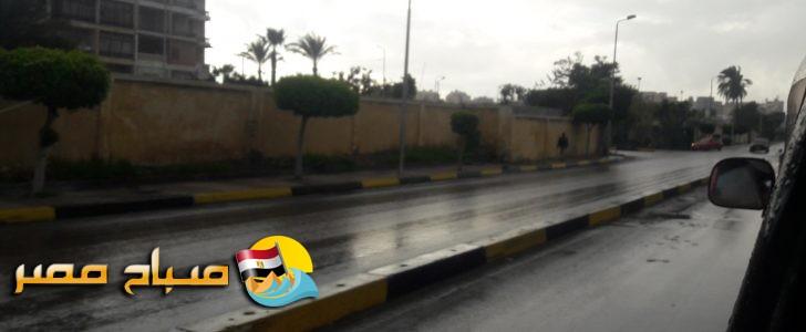 بالصور.. هطول امطار ورياح شديدة وانخفاض فى درجات الحرارة على عدة مناطق بالاسكندرية