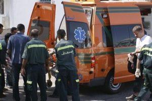 تفحم جثة شخص وإصابة آخر فى حادث تصادم سيارتين بالبحيرة