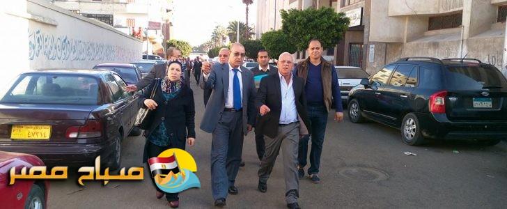 محافظ بورسعيد يقوم بجولة تفقدية مفاجئة لبعض المدارس