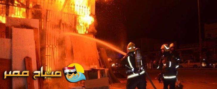 تسرب الغاز يسفر عن إصابة شخصين في حريق منزل بالبحيرة