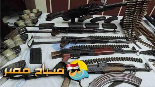 حملة أمنية  تضبط 20 قطعة سلاح ناري في المنيا