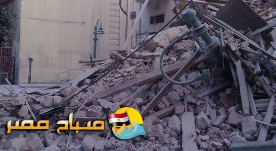 انهيار عقار من 6 طوابق بمنطقة كرموز فى الاسكندرية