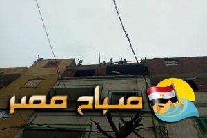 انهيار جزئي فى عقار بحي الجمرك بالاسكندرية