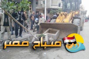 رفع كفاء الطرق وإزالة اشغالات فى عدة شوارع بحى المنتزة فى الاسكندرية