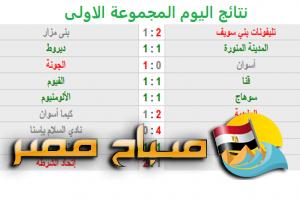 تعرف نتائج مباريات اليوم دوري الدرجة الثانية المصري مجموعة الصعيد