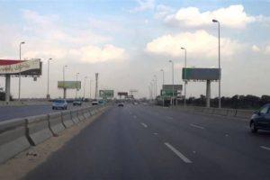 كاميرات مراقبة وخدمات مرورية فى محيط إنشاء كوبرى مشاة بطريق إسكندرية الزراعى