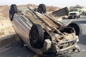 انقلاب سيارة يسفر عن مصرع 5 أشخاص في بني سويف