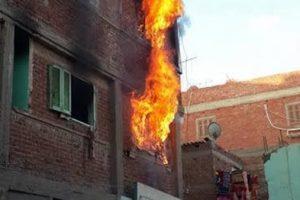 لص يشعل النيران فى شقة بعد اكتشافه وجود كاميرات مراقبة بالإسكندرية