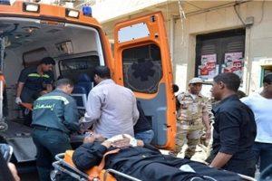 إصابة شخص صدمته سيارة أثناء عبوره الطريق فى مدينة الشروق
