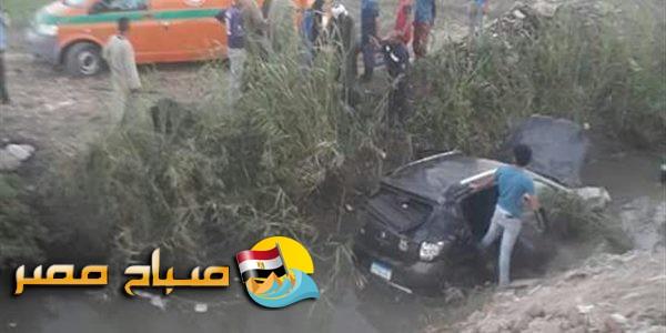 مصرع وإصابة 3 طلاب في انقلاب سيارة في مياه ترعة بسوهاج