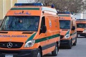 إصابة 10أشخاص أثر تصادم 2 تروسيكل بمحافظة بنى سويف