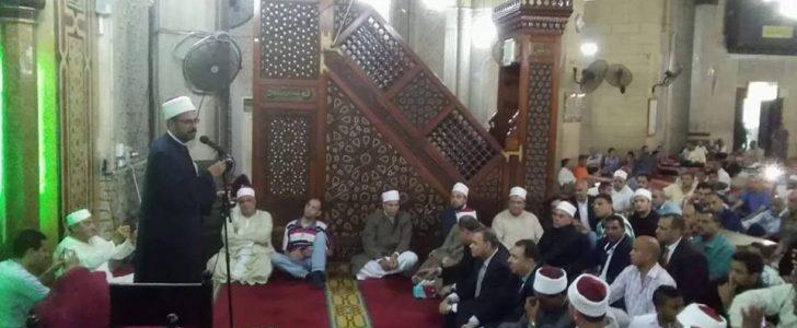 أوقاف الإسكندرية تحتفل بليلة القدر بمسحد العارف أبى العباس المرسى