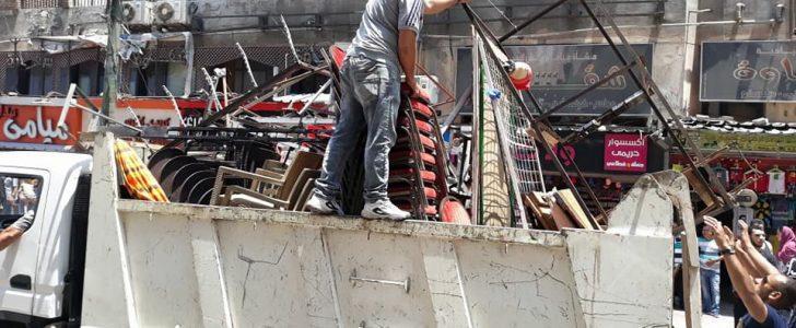 حملات إزالة إشغالات بحي المنتزه أول بالإسكندرية