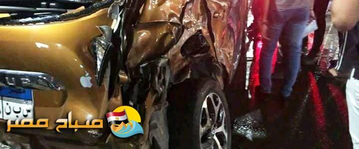 اصابة شخص في حادث تصادم مروع بين سيارة ملاكي و مقطورة على طريق دمياط الجديدة – دمياط