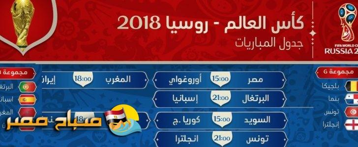 مواعيد مباريات كاس العالم بتوقيت تونس والمغرب والقنوات الناقلة
