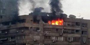 حريق هائل داخل عقار يتسبب فى مصرع موظف واصابة 5 اخرين بالاسكندرية