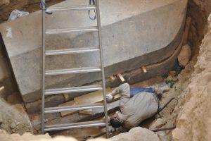 تابوت الإسكندرية الأثري يعود للعصر البطلمي