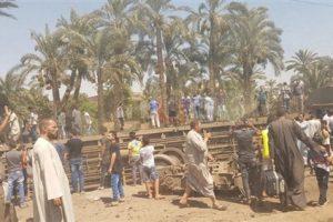مصادر امنية : 5 عربات خرجت عن القضبان في حادث البدرشين