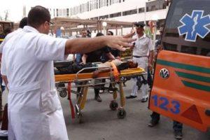 حادث انقلاب سيارة يسفر عن إصابة 10 اشخاص فى اسوان