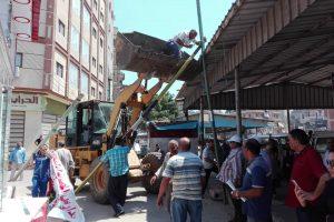 شن حملة لازالة كشك مخالفة و اغلاق مقهى بدمياط … صور