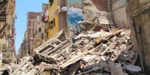 انهيار منزل فى الاسكندرية