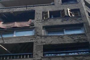 انهيار أجزاء من عقار بحي الجمرك فى الإسكندرية