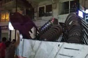 بالصور حملات إزالة إشغالات مسائية مكبرة بحي المنتزه ثان في الاسكندرية